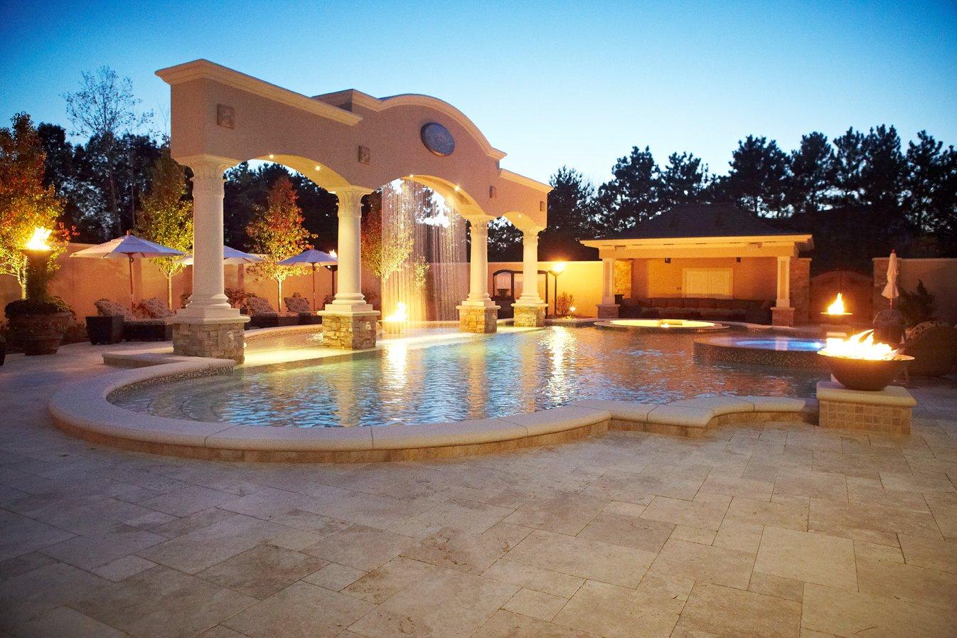 Cascade Luxury Custom Home And Backyard Resort Signature