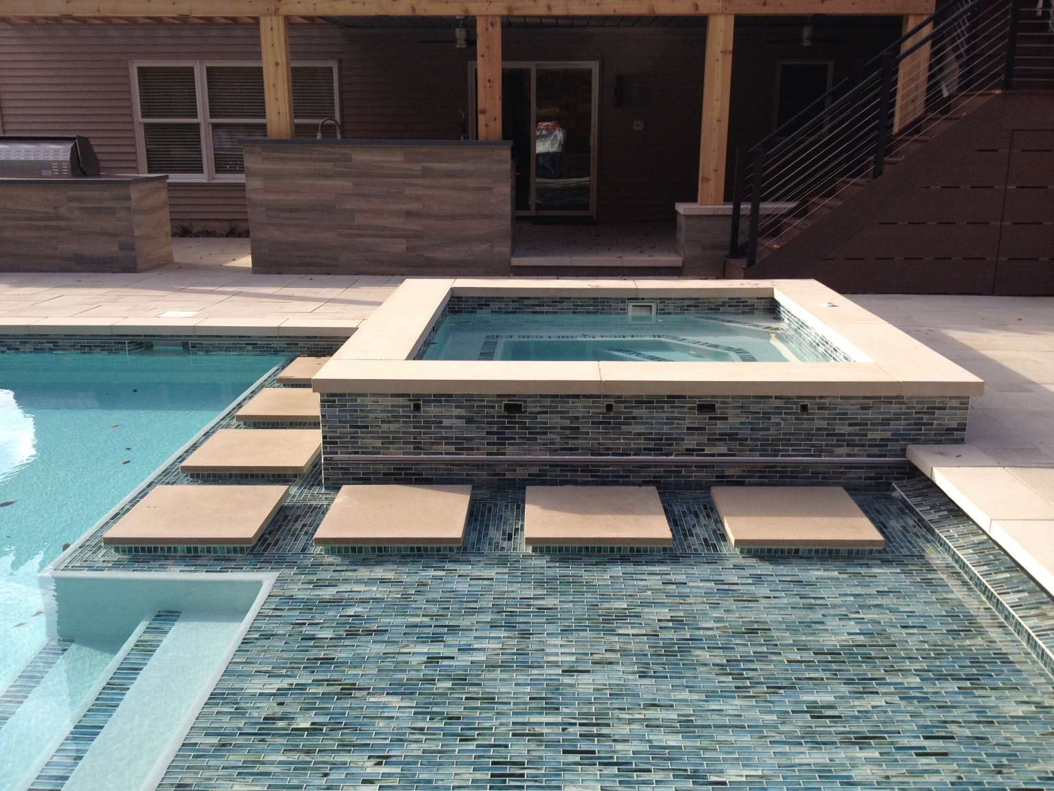 Grand Rapids Township Pool, Spa, Outdoor Kitchen, and Fireplace